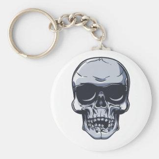 Metal head skull metal skull keychain
