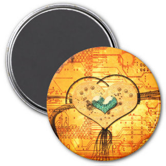 Metal heart with pipes magnet