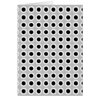 Metal Holes Grill (faux) Card