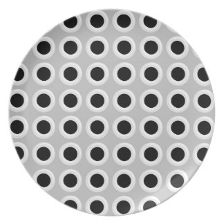 Metal Holes Grill (faux) Melamine Plate