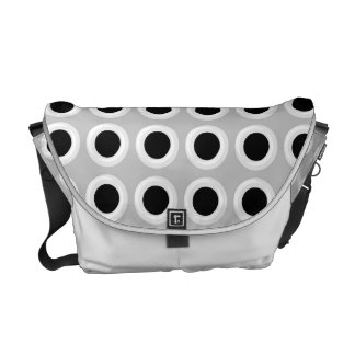 Metal Holes Grill (faux) Messenger Bag