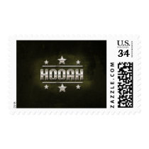 Metal Hooah Text Postage