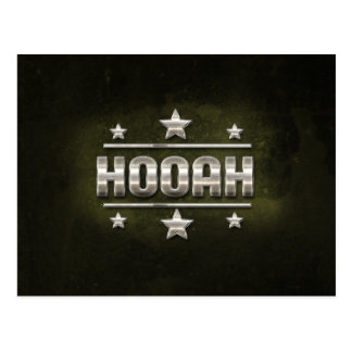 Metal Hooah Text Postcard