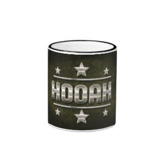 Metal Hooah Text Ringer Mug
