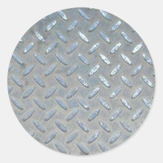 Metal Iron Steel Classic Round Sticker