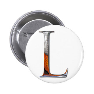 Metal L monograma Chapa Redonda 5 Cm