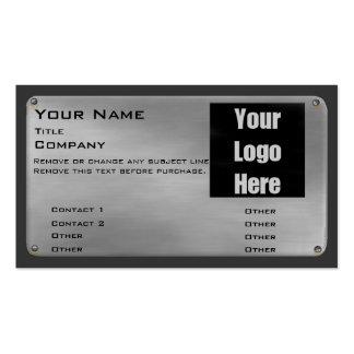 Metal la tarjeta de visita II - plata con el logot