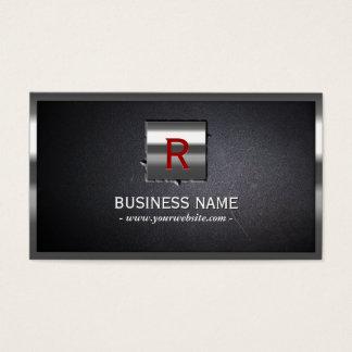 Metal Label Embed Steel Border Business Card