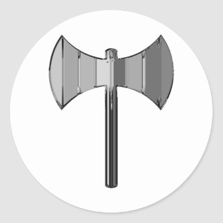 Metal Labrys Classic Round Sticker