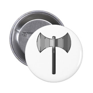 Metal Labrys Pin Redondo De 2 Pulgadas