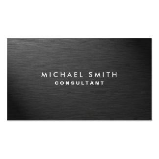 Metal llano negro moderno elegante profesional tarjetas personales