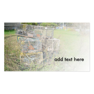 metal lobster cages Double-Sided standard business cards (Pack of 100)