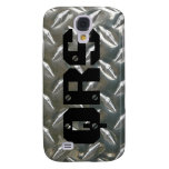 Metal Look - Aluminum Checkerplate Material Samsung Galaxy S4 Cases