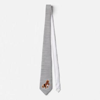 Metal look; Basset Hound Neck Tie