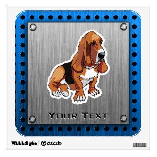 Metal look; Basset Hound Wall Sticker