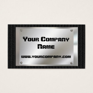 Metal Look  Black Carbon Fiber Business Cards