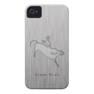 Metal-look Bull Rider iPhone 4 Cases