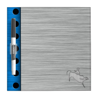 Metal-look Bull Rider Dry-Erase Board