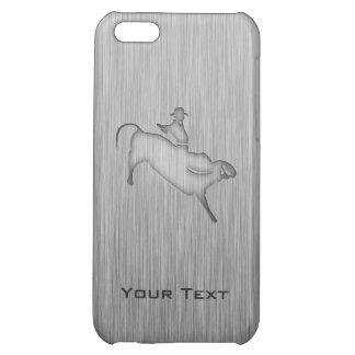 Metal-look Bull Rider iPhone 5C Case