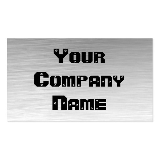Metal Look Business Cards (front side)