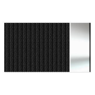 Metal Look Carbon Fiber Business Cards