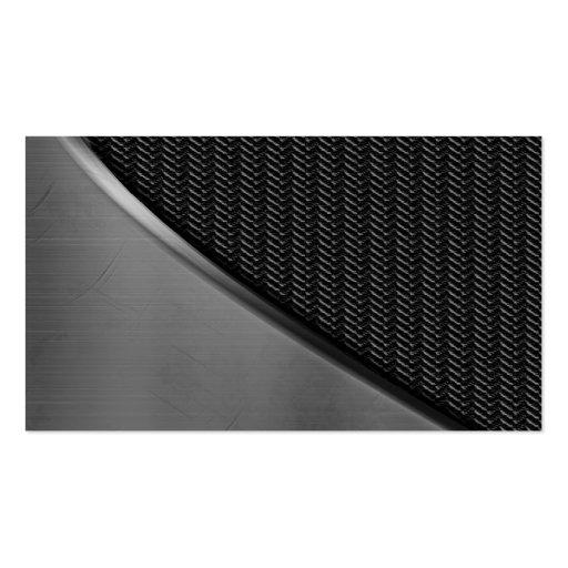Metal Look Curve Carbon Fiber Business Cards