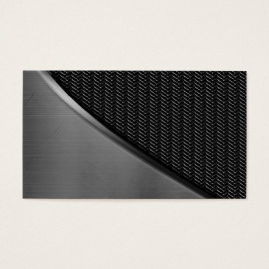 Metal Look Curve Carbon Fiber Business Cards