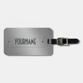 Metal Look custom luggage tag