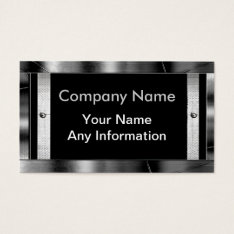 Metal Look Frame Border Business Cards at Zazzle