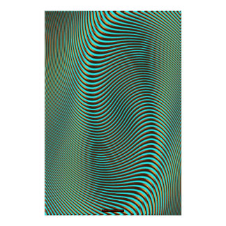 Metal-look Futuristic Optical Illusion Wall Art VI