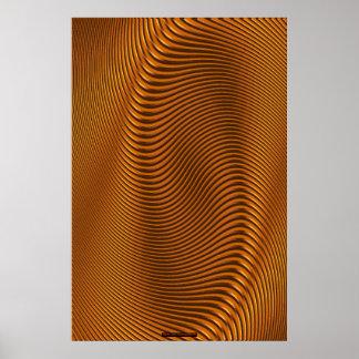 Metal-look Futuristic Optical Illusion Wall Art VI