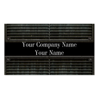 Metal Look Grill Grunge Business Cards