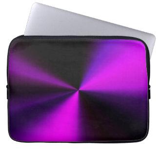 metal look laptop cover in purple & black