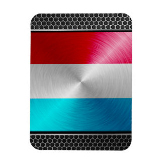 Metal-look Luxembourg Flag; Magnet