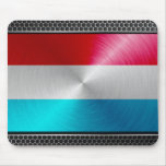 Metal-look Luxembourg Flag; Mousepads