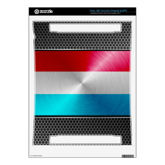 Metal-look Luxembourg Flag; Xbox 360 Console Skins