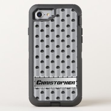 Beach Themed Metal-Look OtterBox Defender iPhone 7 Case