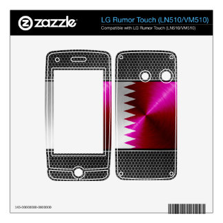 Metal-look Qatar Flag Decal For LG Rumor Touch