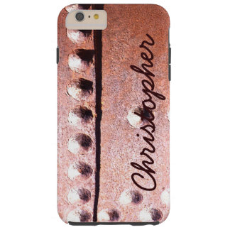 Metal Look Rustic Personalized Abstract Tough Tough iPhone 6 Plus Case