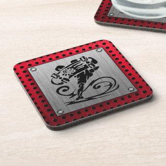Metal look; Skater / Skateboard Coaster