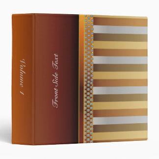 Metal Look Stripes | DIY Text 3 Ring Binder