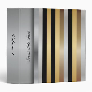 Metal Look Stripes | Personalize Binder