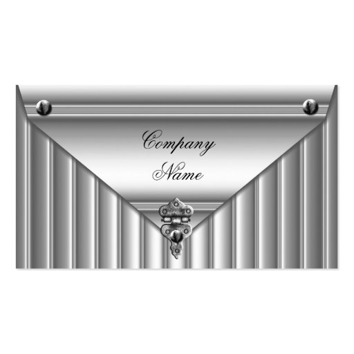 Metal Look White Silver Elegant Profile Business Card