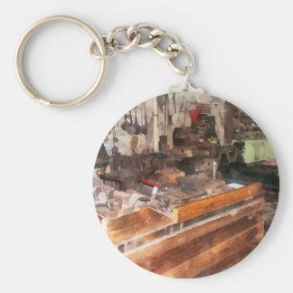 Metal Machine Shop Basic Round Button Keychain