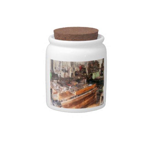 Metal Machine Shop Candy Jar