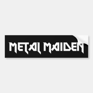 Metal Maiden Bumper Sticker Car Bumper Sticker