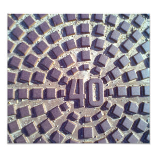 Metal Manhole cover number 40 Photo Print