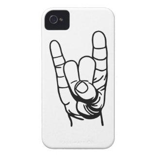 Metal mano - Devil dedo de la mano Case-Mate iPhone 4 Carcasa