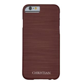 metal marrón viejo personalizado por nombre funda de iPhone 6 barely there
