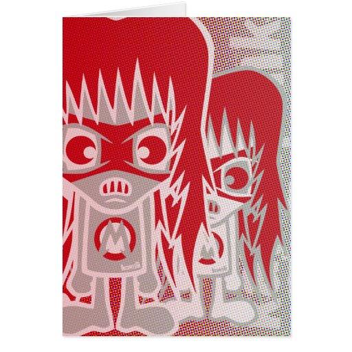 Metal Mascot Greeting Cards